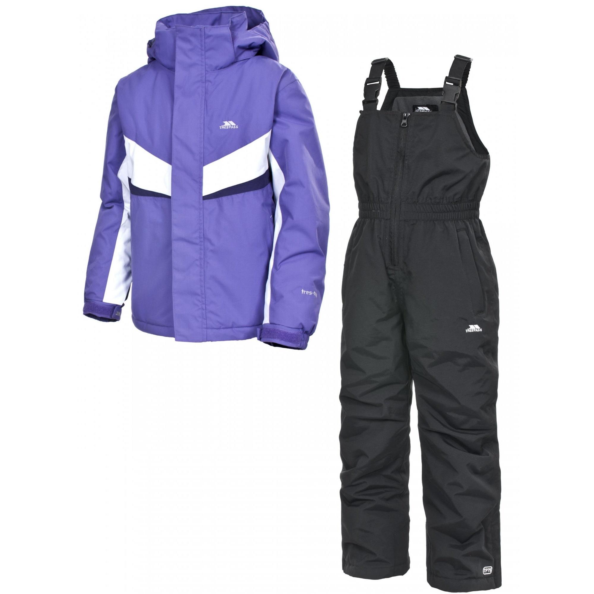 trespass chamonix ensemble veste et salopette de ski enfant unisexe ebay. Black Bedroom Furniture Sets. Home Design Ideas