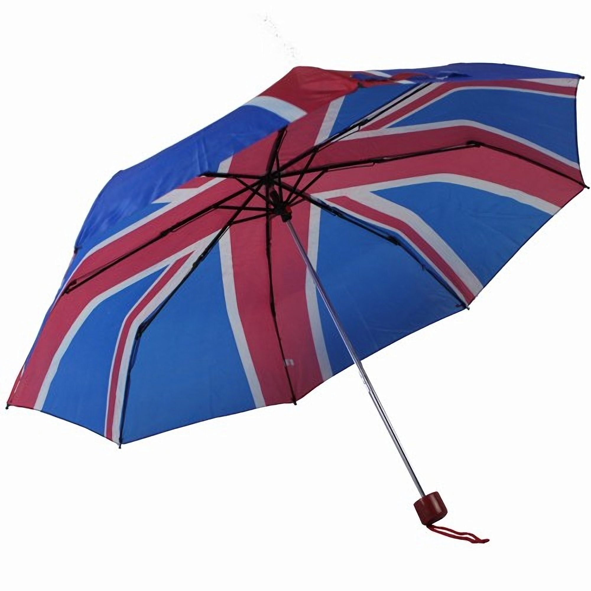 Unisex Union Jack Design Compact Close Umbrella