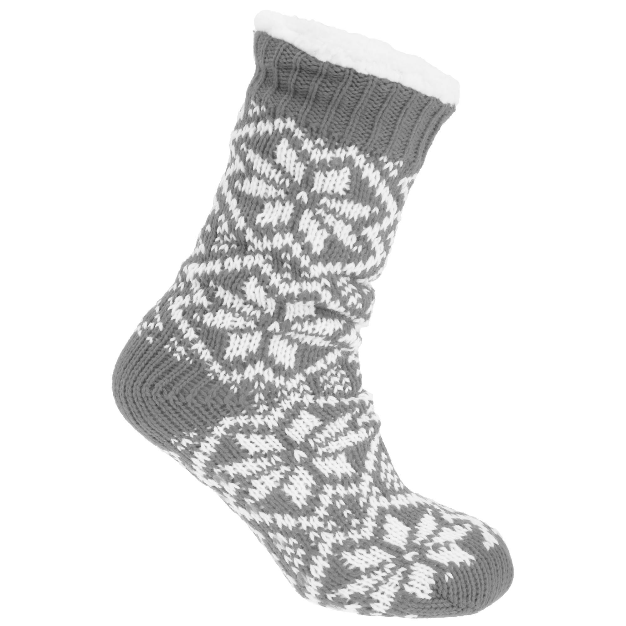 Co-zees Womens/Ladies Chunky Knit Long Lounge Slipper ...