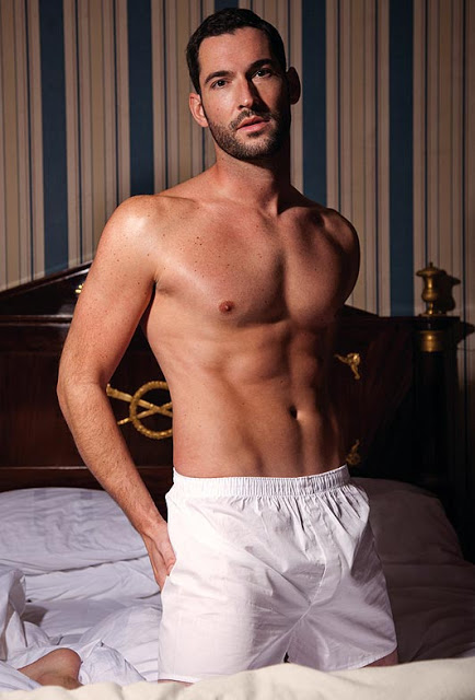 Tom Ellis in his underwear