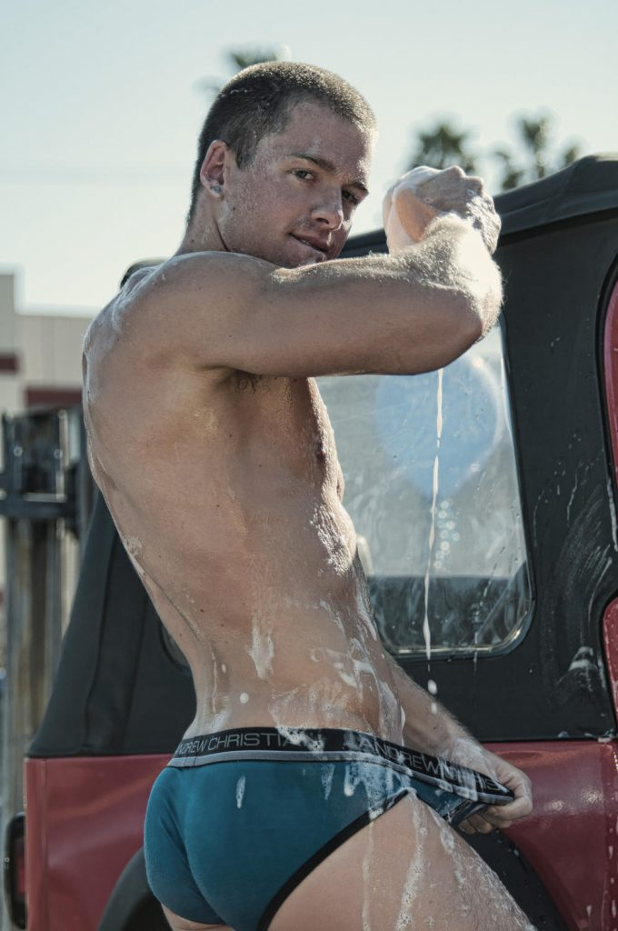 andrew christian sexy car wash video still