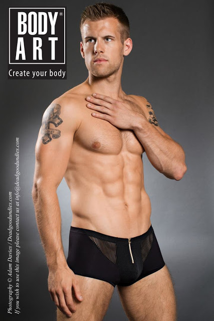 adam coussins in body art underwear