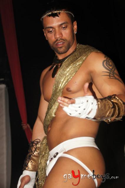 male dancer in underwear