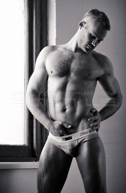 sexy model mordechai toor by simon le in todd sanfield underwear