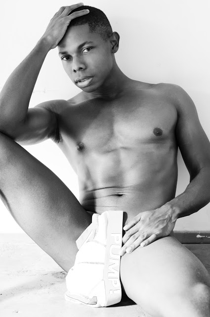 Laurence Hines photographed by Eric Ganison in Pump underwear