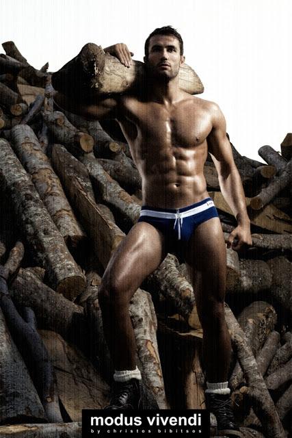 modus vivendi underwear campaign retro greece woodcutter style