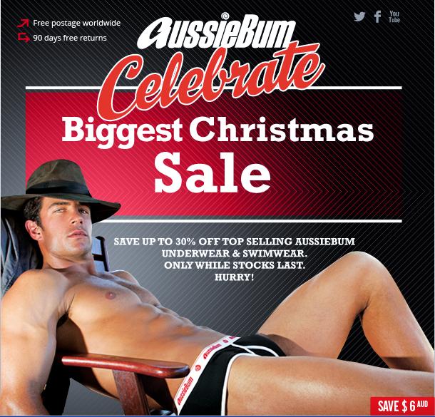 aussiebum underwear christmas sale