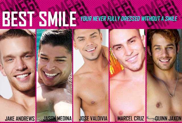 Best smile of a model OMFG awards by Andrew Christian