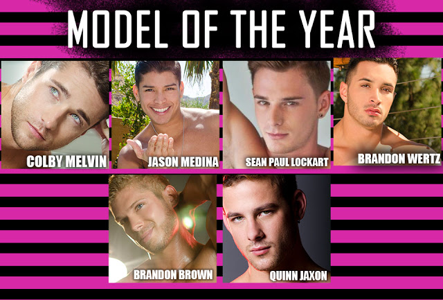 Model of the year OMFG awards by Andrew Christian