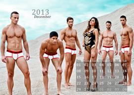 Garcon Model calendar for 2013