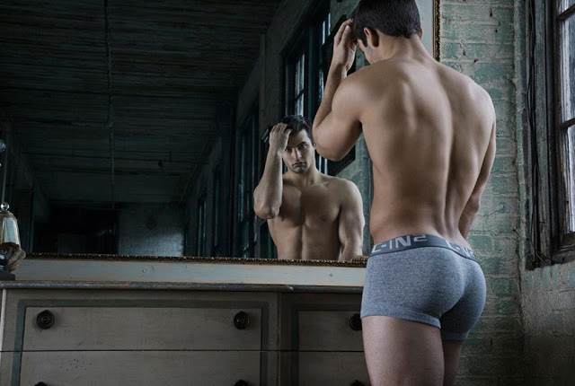 C-IN2 underwear campaign. Mike Stalker by Rick Day