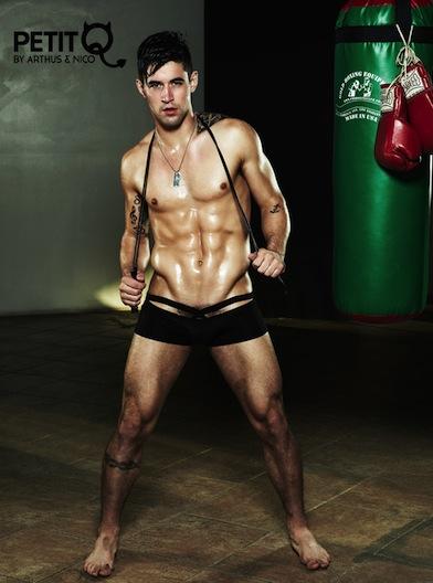 Petit-Q underwear campaign with Benjamin Godfre