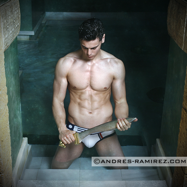 Sexy model David Hernandez by Andres Ramirez in ES collection underwear