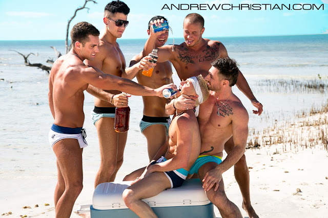 Andrew Christian new video overboard