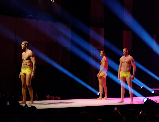 Kim Denzler underwear fashion show A Golden State of Mind