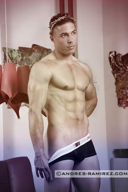 Juan Jesus Ortiz photographer Andres Ramirez underwear by Todd Sanfield