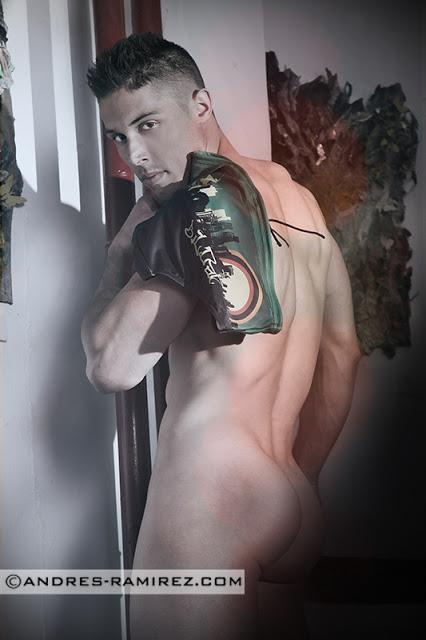 Juan Jesus Ortiz photographer Andres Ramirez underwear by Bildan