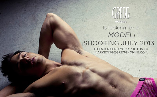 Gregg Homme looking for male model