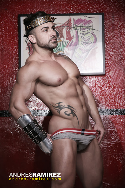 Ivan Pacheco in Barcode underwear
