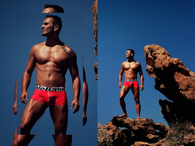 sexy model Abidan Martin wearing Malebasics underwear