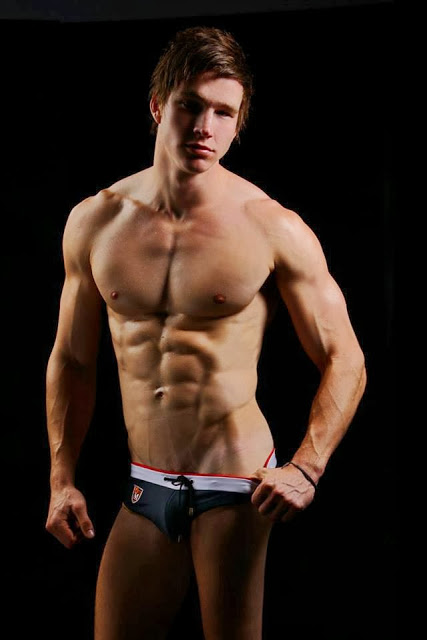 Australian model posing in swimwear by Marcuse