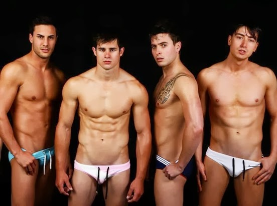 Australian models posing in swimwear by Marcuse