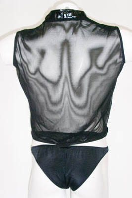 sexy male pleather bodysuit
