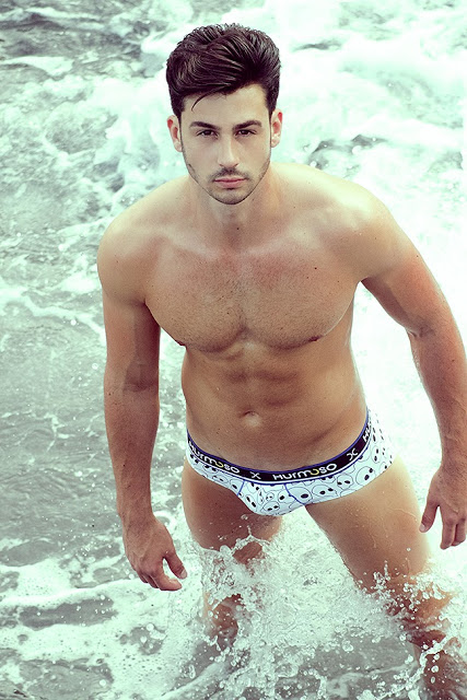Sexy model Daniel Mateos in Hurmoso underwear
