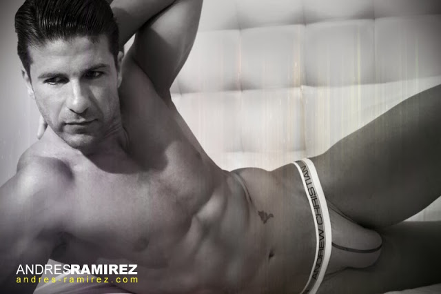 Andres Ramirez photographer - David Fillol in Andrew Christian underwear