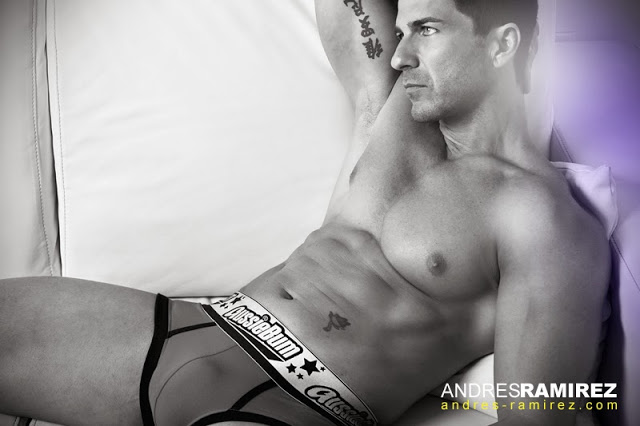 Andres Ramirez photographer - David Fillol in aussiebum underwear