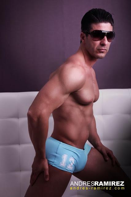 Andres Ramirez photographer - David Fillol in aussiebum swimwear