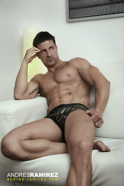 Andres Ramirez photographer - David Fillol in bildan underwear