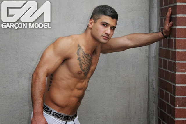 Muscled model Buzz in Garcon Model underwear