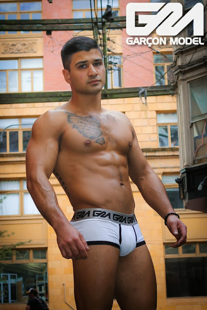Pure muscle model Buzz Garcon Model underwear