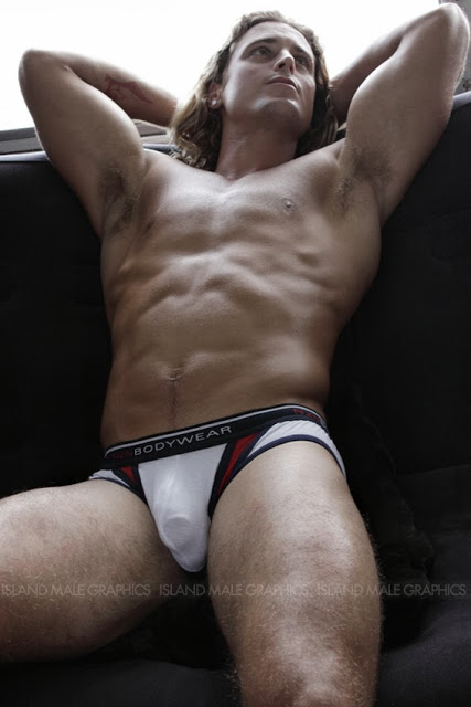 sexy surfer in N2N underwear