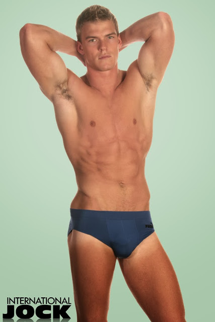 Alan Ritchon in underwear for International Jock