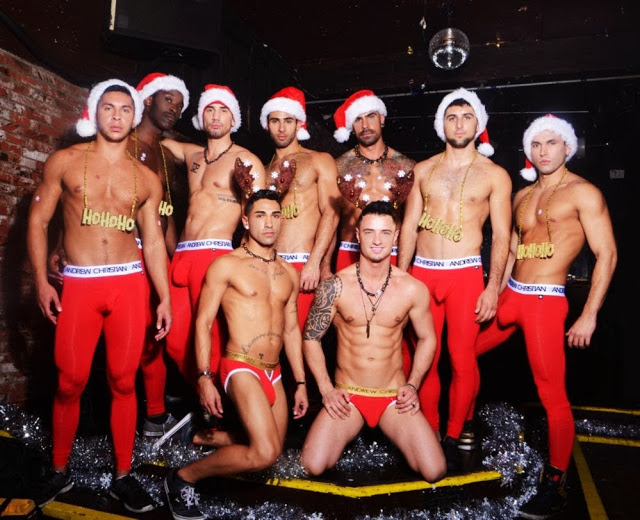 Andrew Christian boys celebrate the holidays - new video