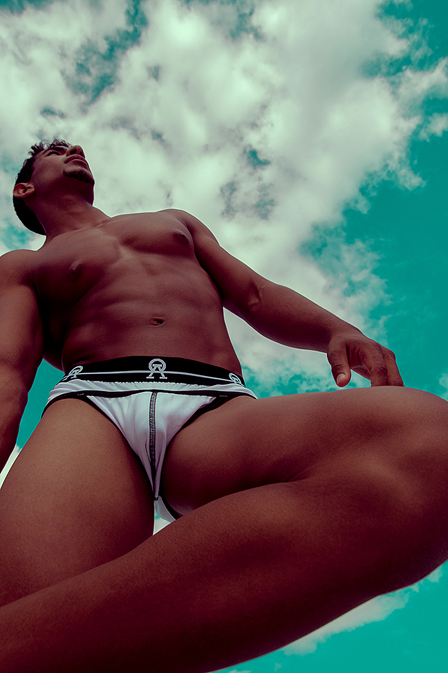 Samu Vera and Marcial Rodriquez by Adrian C. Martin for Alpha + Omega underwear