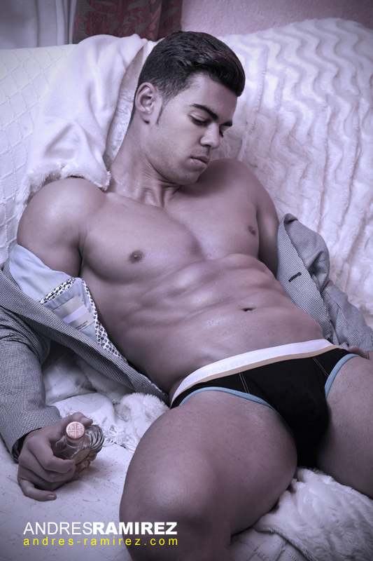 Cristian Carcela in andrew christian underwear