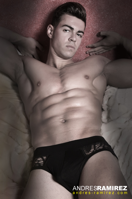 Cristian Carcela in candyman underwear