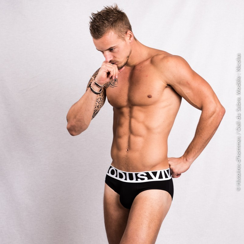 Sexy French model Nicolas Jacquemart - Underwear shoot