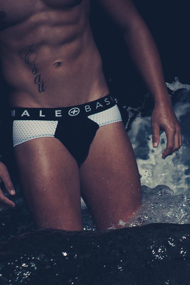 Model Esau Garcia - MaleBasics underwear - photographer Adrian C. Martin