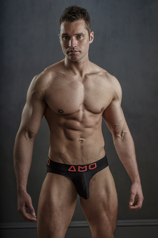 Fitness model Jamie B by photographer Steve France - AMU underwear