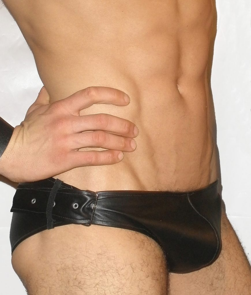 Buckle Up Sides leather brief - Jocks by RJ