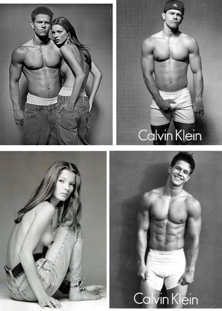 Marky Mark and Kate Moss for Calvin Klein underwear
