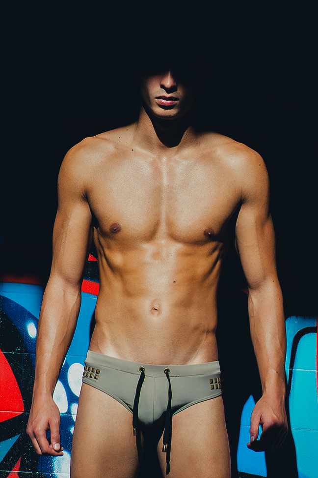 Samuel Acosta in Marcuse swimwear
