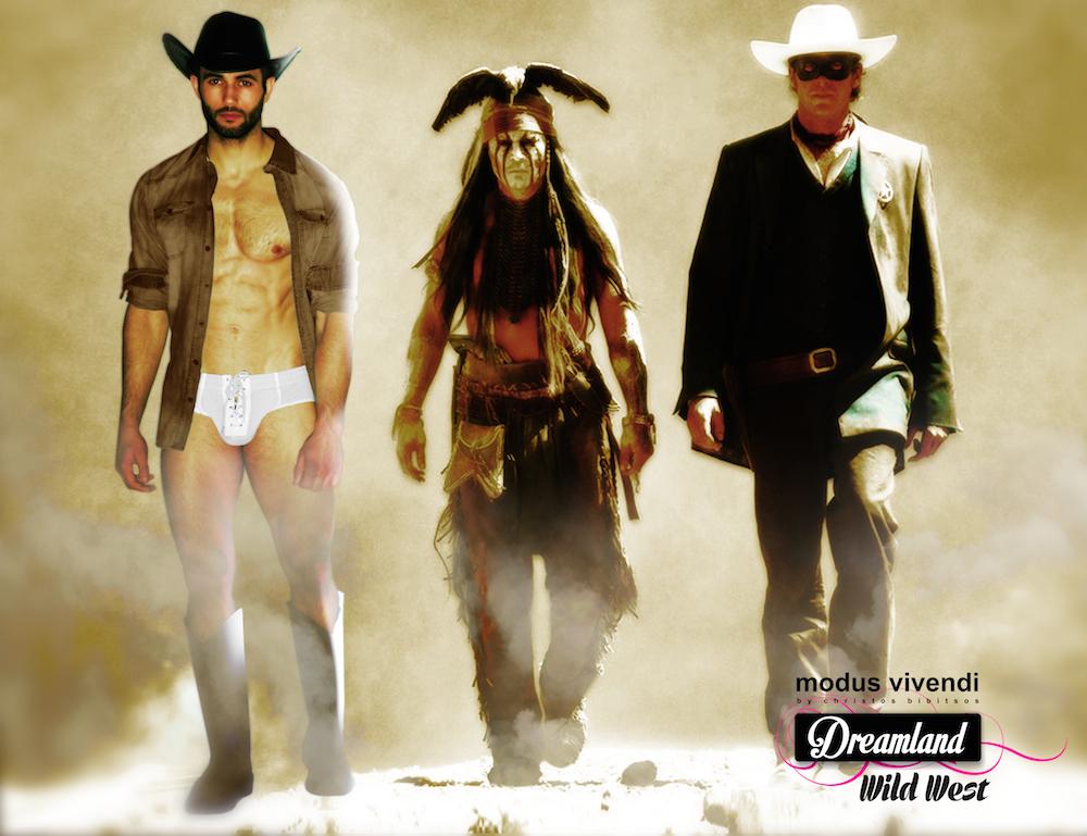 Modus Vivendi underwear campaign Dreamland - Wild West