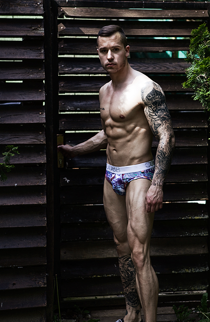 Sexy model David for Alexander COBB underwear