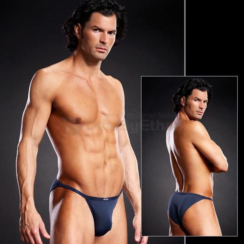 Blue Line - Full Pouch Microfiber String Bikini