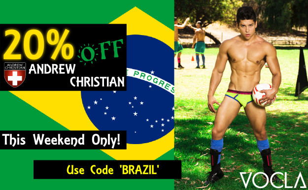 Andrew Christian underwear offer 20% off